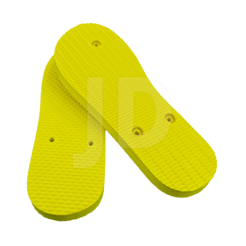 Chinelo Liso - Feminino - Adulto - Tradicional - Amarelo