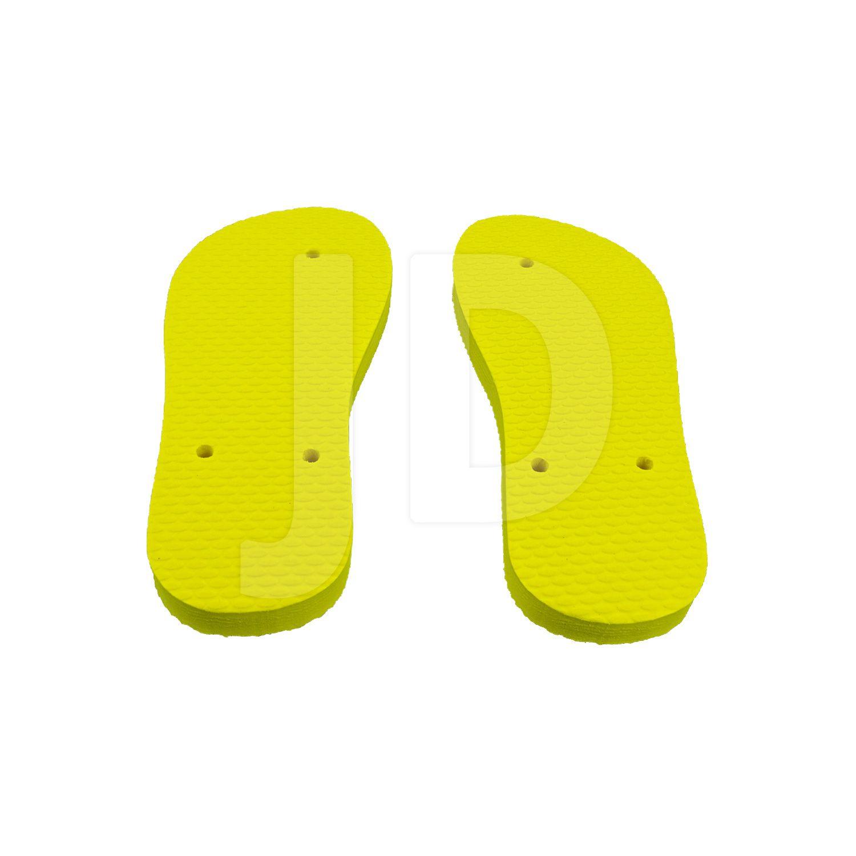 Chinelo Liso - Para Transfer e Silk - Feminino - Infantil - Tradicional - Amarelo