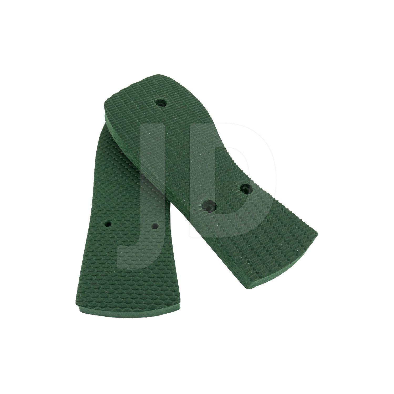 Chinelo Liso - Masculino - Adulto - Quadrado - Verde Musgo/Bandeira