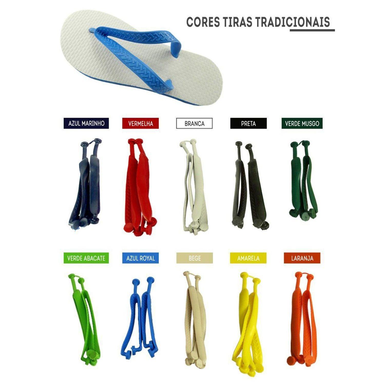 Chinelo Liso - Para Transfer e Silk - Masculino - Adulto - Quadrado - Verde Musgo/Bandeira