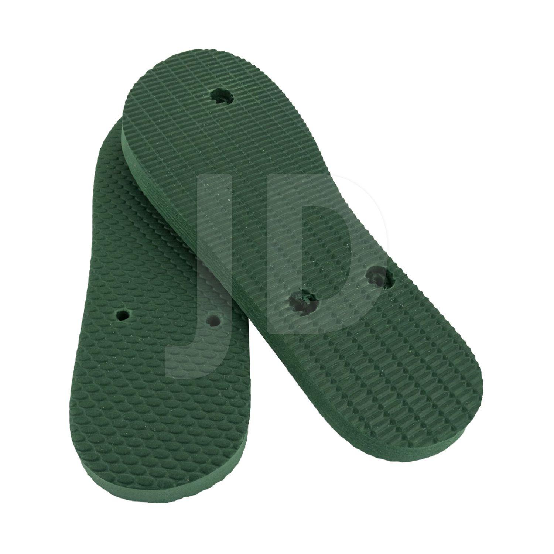 Chinelo Liso - Masculino - Adulto - Tradicional - Verde Musgo/Bandeira
