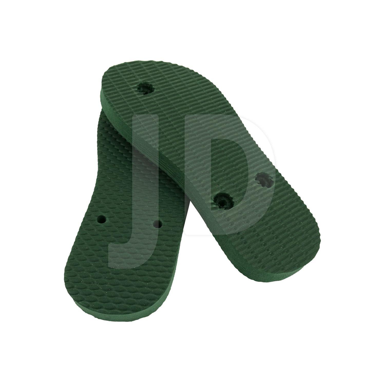 Chinelo Liso - Masculino - Infantil - Tradicional - Verde Musgo/Bandeira