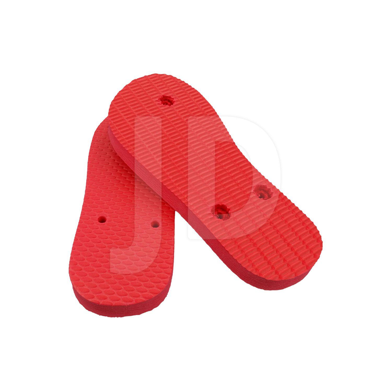 Chinelo Liso - Masculino - Infantil - Tradicional - Vermelho