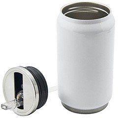 Lata de inox parede dupla térmica Branca para sublimação- 280ml