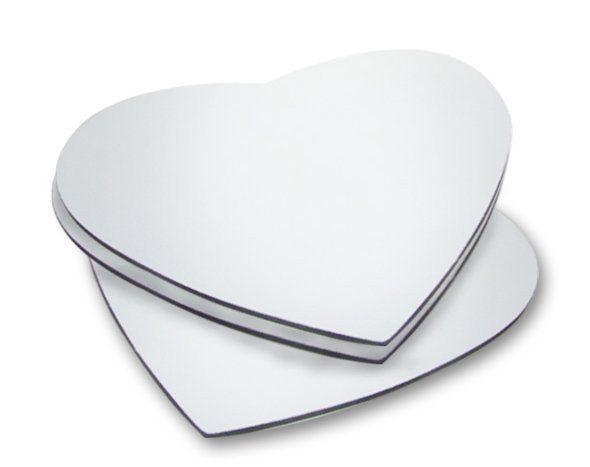 Mouse Pad Sublimático - Coração - 18,8x18,8cm - Pct 100un