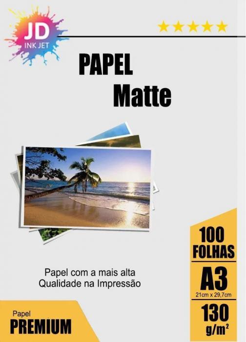Papel Matte 130 g/m2 100 Folhas A3