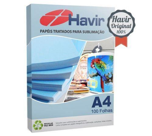 Papel Sublimático Blue Paper Havir 100 Folhas A4 Resinado 130 g/m2
