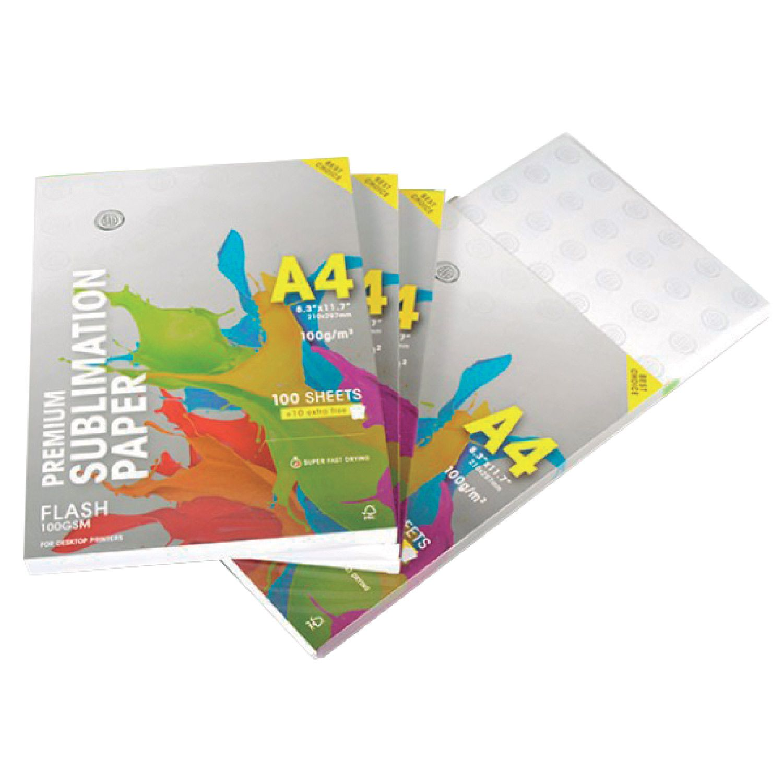 Papel Sublimático White Premium A4 Resinado 100 g/m2 100 Folhas