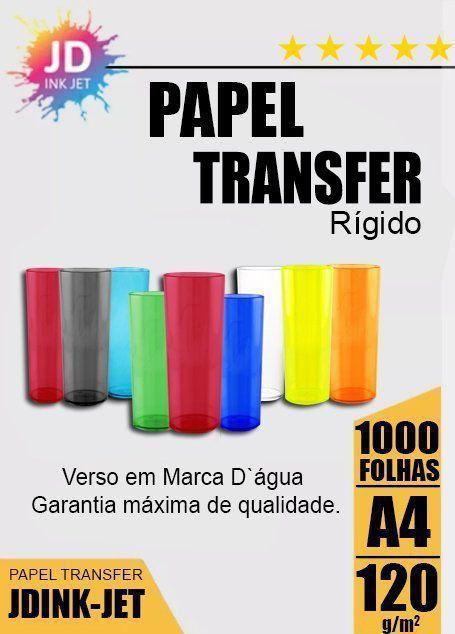 Papel Transfer Laser Rígido 120gr 1000 folhas
