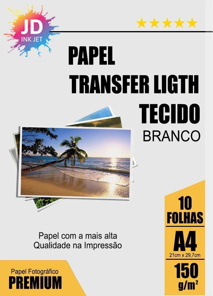 Papel Transfer light para tecido branco pct c/ 10 folhas