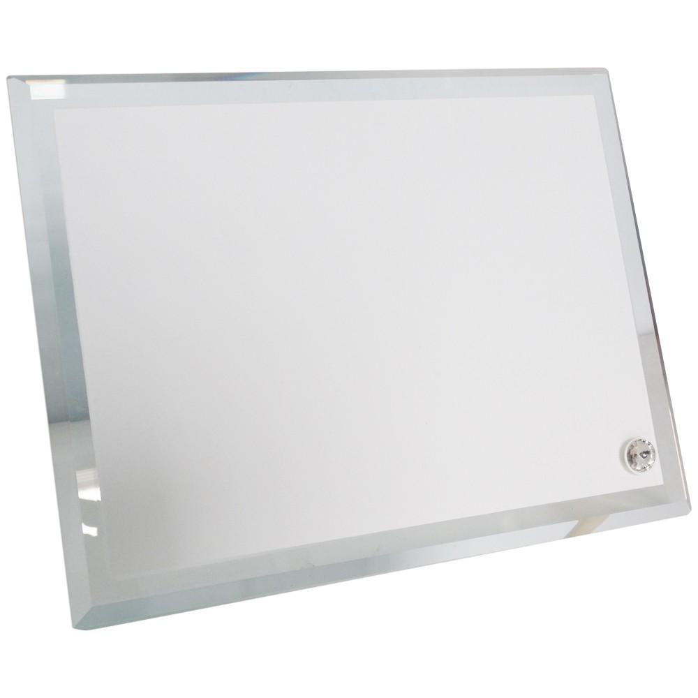 Porta retrato de vidro c/ as laterais chanfrada 15x20cm BL-05
