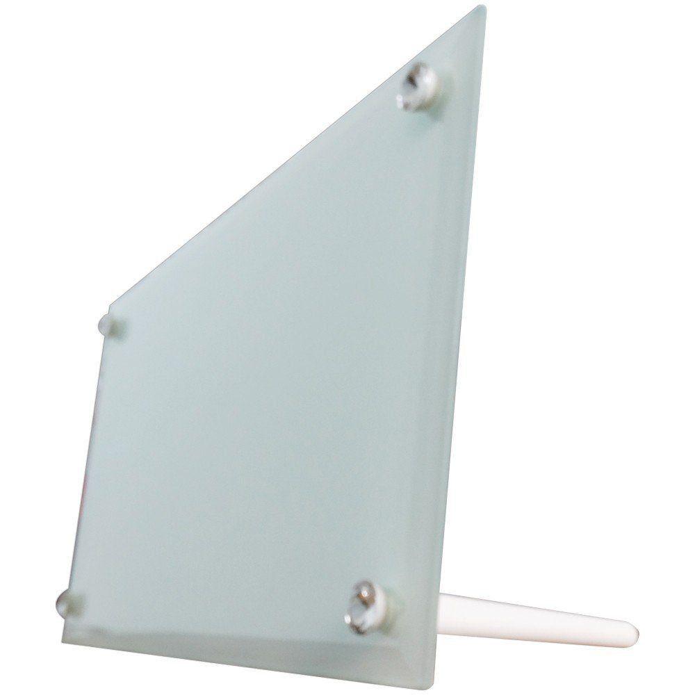 Porta retrato de vidro horizontal 16x30cm BL-29