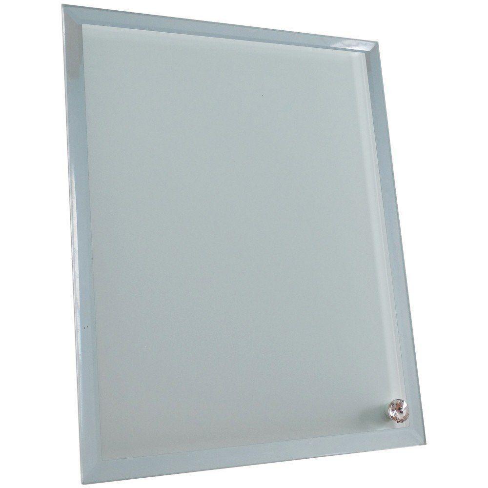 Porta retrato de vidro retangular espelhado 16x20cm BL-01