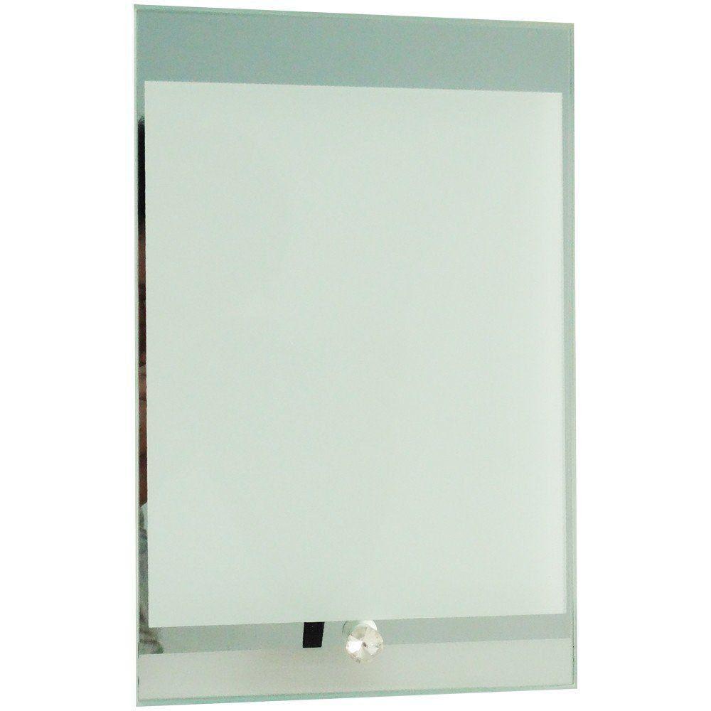 Porta retrato de vidro vertical espelhado 14x18cm BL-03