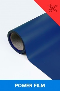 Power film brilhante azul  0,50m² (1/2 de m²)