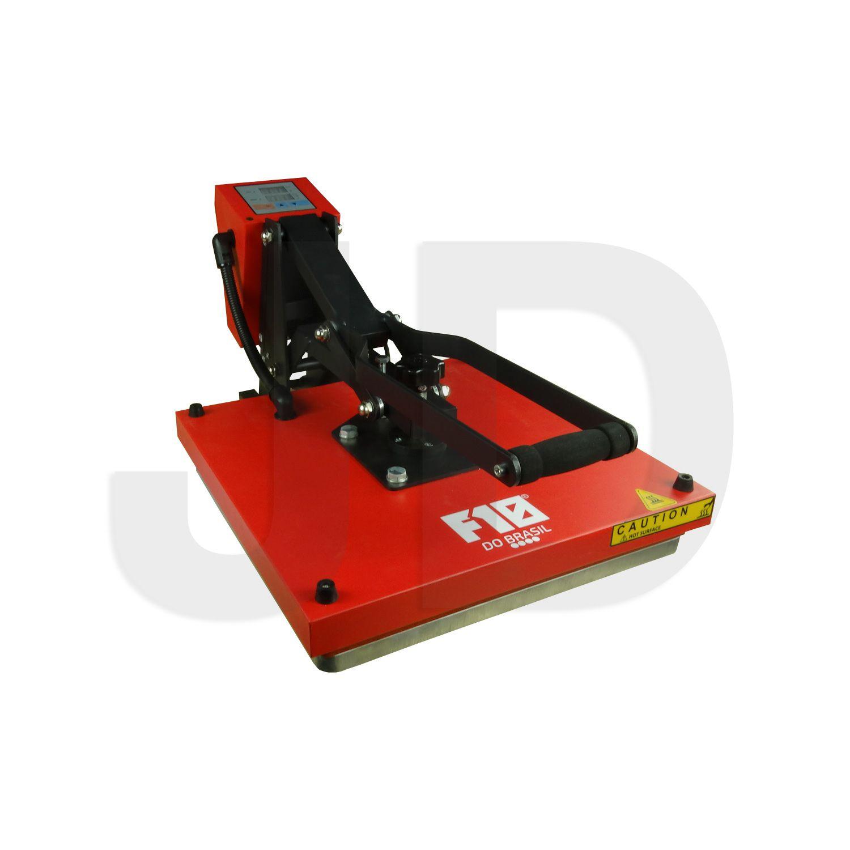 Prensa Térmica Plana + Kit De Teste - 38x38cm - F10 Do Brasil - 220v