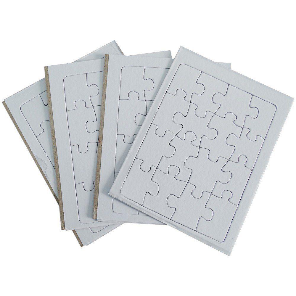Quebra cabeça 16  peças para sublimação pacote com 5un A5 19cm x 14cm
