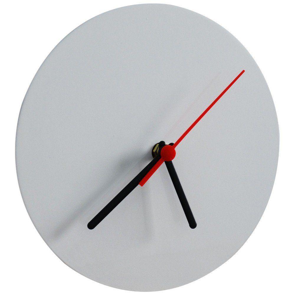 Relógio de Metal Branco Redondo 20x20
