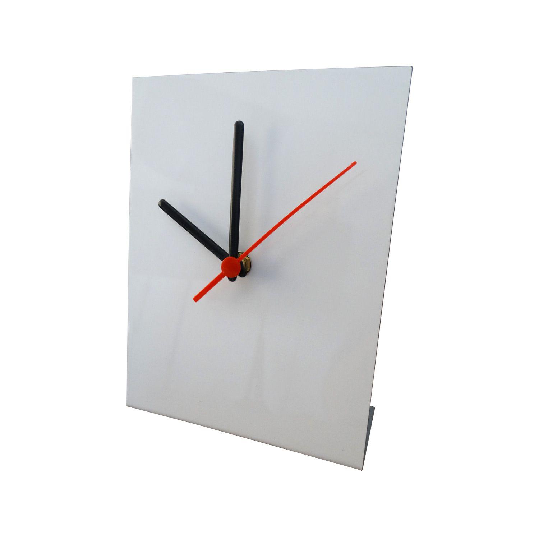 Relógio de Metal Para Sublimação 15x20cm - Branco