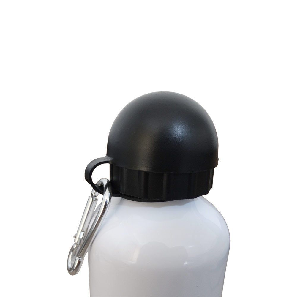 Squeeze Branco - Tampa Bolinha Com Mosquetão - 600ml