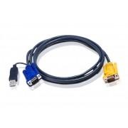 2L-5203UP - Cabo KVM USB com SPHD 3 em 1 e conversor incorporado PS/2 para USB 3M