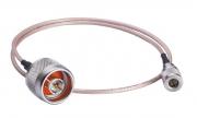 A-CRF-QMAMNM-R2-50 - Cabo Rg-316 Para Antena Wireless, Conectores Qma Macho Para N Macho,0.5 M
