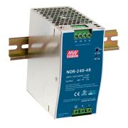 NDR-240 - Fonte de Alimentação Chaveada 240Watts, Função PFC, Trilho DIN