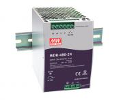 WDR-480 - Fonte de Alimentação Chaveada 480Watts, Função PFC, Trilho DIN