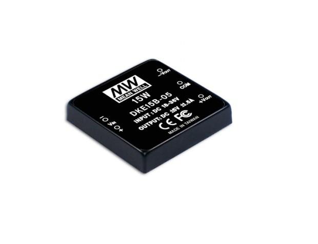 DKE15 - Conversor DC/DC Encapsulado 15Watts, Saída Dupla Regulada