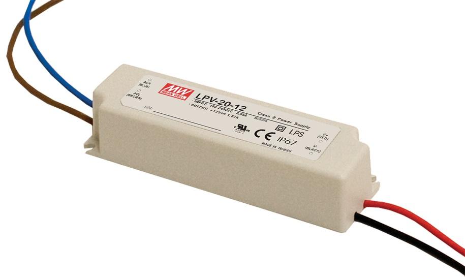 LPV-20 - Fonte de Alimentação Chaveada 20Watts para LED