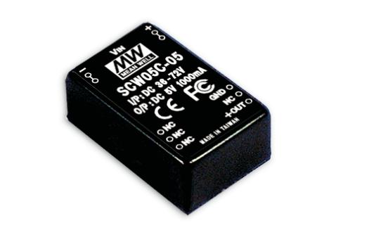 SCW05 - Conversor DC/DC Encapsulado 5Watts, Saída Única Regulada