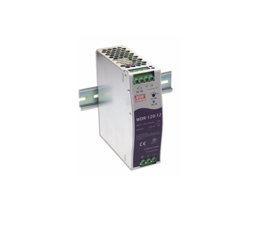 WDR-120 - Fonte de Alimentação Chaveada 120Watts, Trilho DIN