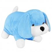 Almofada Cachorrinho Pelúcia Importada Azul