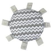 Almofada Decorativa Sol Chevron Preto Branco e Cinza