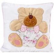 Almofada Ursa com Jardineira Floral