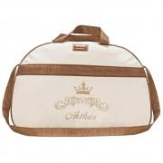 Bolsa Grande Nylon Coroa com Strass e Pérolas Personalizada