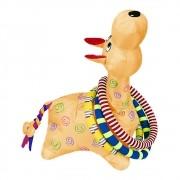 Brinquedo Girafa Argolas Gigante Laranja Colorida