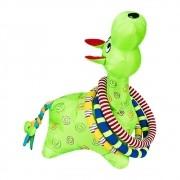 Brinquedo Girafa Argolas Gigante Verde Colorida
