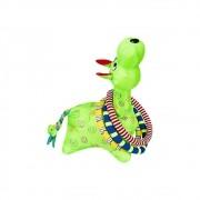 Brinquedo Girafa Argolas Grande Verde Colorida