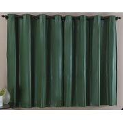 Cortina Blackout Corta Luz PVC (Plástico) Verde 2,80 x 1,60 para Varão Simples 2,00 Metros