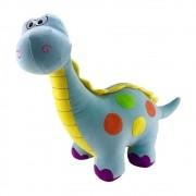 Dinossauro Plush Médio Azul Colorido