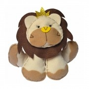 Enfeite Feltro Pequeno Bege Rei Leão Coroa