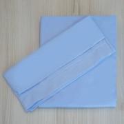 Kit 2 Peças Jogo de Lençol de Elástico e Fronha Percal Azul para Berço