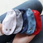 Kit 5 Peças Extensores de Body 2 Botões Malha Branco, Cinza, Marinho, Azul Bebê e Vermelho