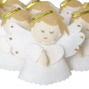 Lembranca Chaveiro Feltro Anjinho Branco