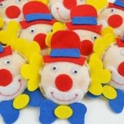 Lembranças Chaveiro 30 Unidades Feltro Amarelo Vermelho Azul Palhacinho
