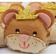 Lembranças Chaveiro 30 Unidades Feltro Rosa Princesa Ursa Coroa