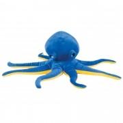 Polvo de Pelúcia Soft Azul Coleção Fundo do Mar