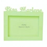 Porta-Retrato Verde Claro Mdf Personalizado com Nome da Bisa