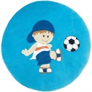 Tapete Grande Emborrachado Redondo Menino Bone Bola Futebol